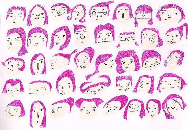 Heads. Maria Velat.