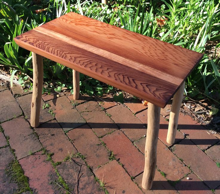 Small table by Graeme Henchel. Cedar and Mountain Ash.