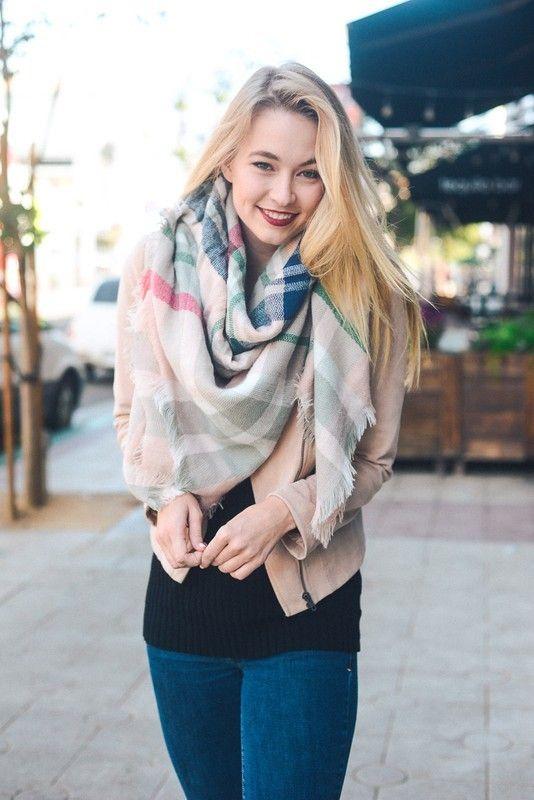 Kelly Brett Boutique - Classic Blanket Scarf Light Pink, $24.00 (https://www.kellybrettboutique.com/classic-blanket-scarf-light-pink/)