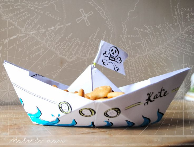 how to make an origami pirate ship