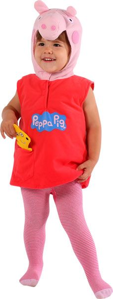 Peppa Pig costume for children - the perfect fancy dress for a Peppa Pig birthday party.