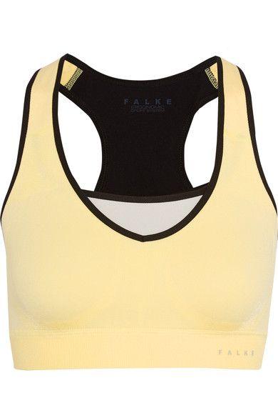 FALKE Ergonomic Sport System - Stretch-jersey Sports Bra - Pastel yellow - medium