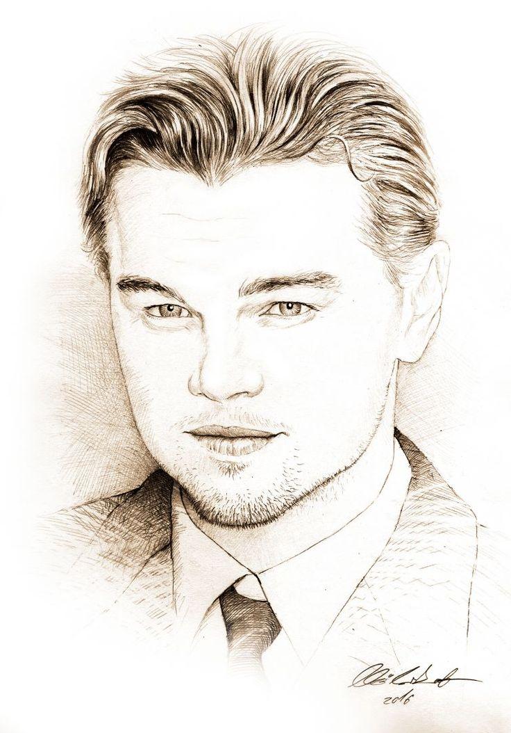 Leonardo DiCaprio portrait - pencil drawing
