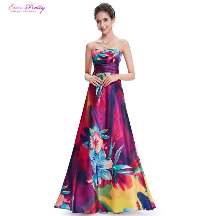 Find More Evening Dresses Information about Evening Dress HE09603PP Vintage Floral Print Dresses Hot Selling Colorful Satin Print  Long Formal Evening Dress Vestidos,High Quality print cake,China printed cotton beach dresses Suppliers, Cheap print dress from Ever Pretty's store on Aliexpress.com