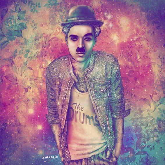 Chaplin Fab Ciarolo Icons as Hipsters