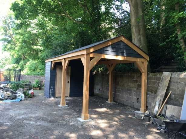 Timber Framed Carports With Carports Car Port Kits Uk Self Build Garages Uk Oak Framed Oak Timber Frame Garage Design Timber