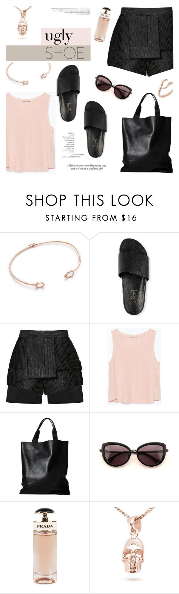 """Rock the Pool Slide Sandals"" by mahora ❤ liked on Polyvore featuring Tai, E L L E R Y, Zara, London Edit, Wildfox, Prada, Merve Baal, women's clothing, women and female"