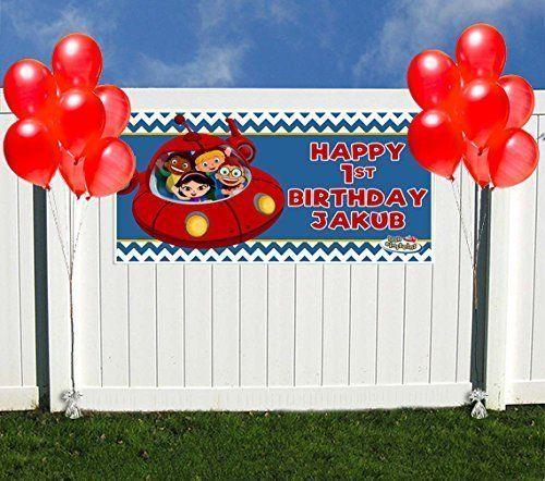 Little Einstein Birthday Banner Personalized Party Backdrop Decoration