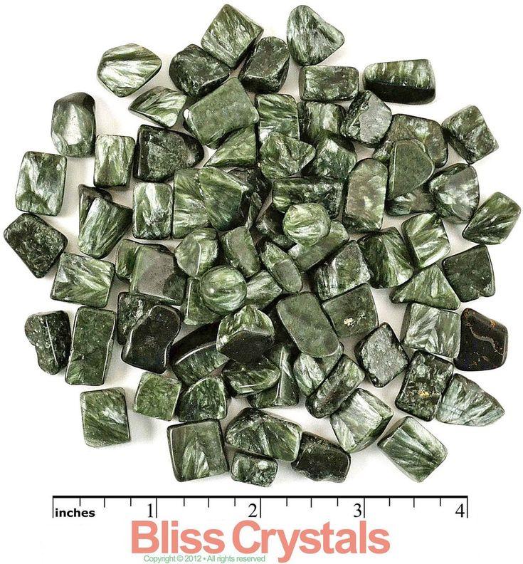 3 Extra Small SERAPHINITE Tumbled Stones Russia Gem