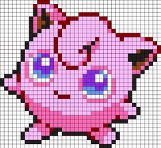 Jigglypuff Pokemon Perler Bead Pattern