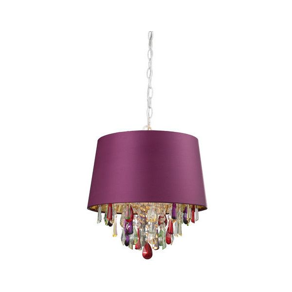 Sterling Industries 122-007 1 Light Down Lighting Pendant with Purple ($250) ❤ liked on Polyvore featuring home, lighting, ceiling lights, indoor lighting, pendants, purple and crystal, halogen lamp, sterling industries, incandescent lights and fluorescent lights