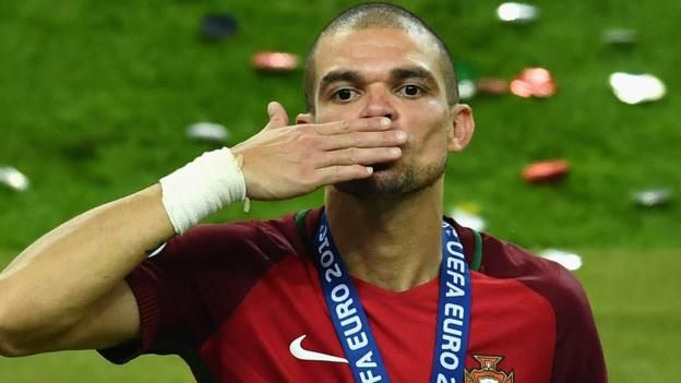 Portugal's Pepe was named man of the match in the Euro 2016 final Portugal defender Pepe has joined Turkish champions Besiktas on a free transfer after his Real Madrid contract expired. The 34-year-old played nearly 350 games for the Spanish side after signing from Porto in 2007, winning...