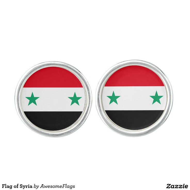 Flag of Syria Cufflinks