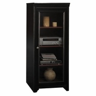 Bush Stanford Audio Cabinet with Tempered Glass Door - AD53940-03 - Bush Office Furniture