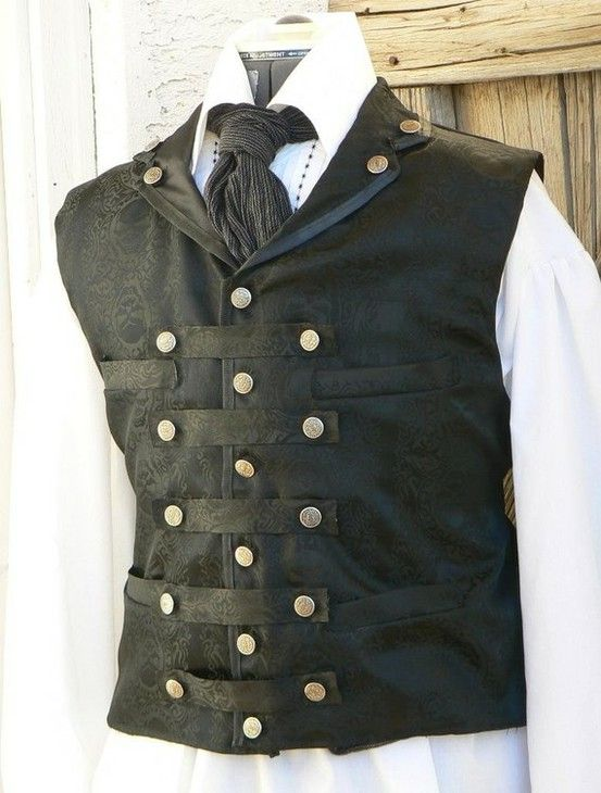 fashion steampunk victorian vests damask