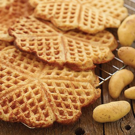 potatoe-waffles a great savoury base for pigs in a blanket or hash!