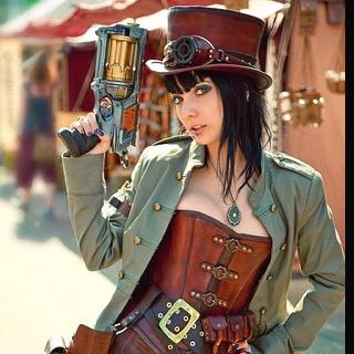 steampunk Steam Chick. Packing. #steampunk: Nerf Guns, Steampunk Fashion, Halloween Costumes, Steampunk Costumes, Steampunk Style, Steam Punk, Steampunk Girls, Steampunk Cosplay, Steampunk Outfits