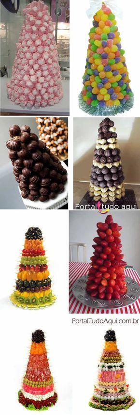 Veja nesta matéria dicas de como fazer arvores de Natal comestíveis para decoração da mesa de Natal ou Ano Novo. Elas são lindas de ver e deliciosas de comer!