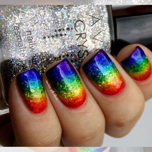 31 of the BEST RAINBOW LGBT PRIDE Inspired Nails we could find. Show your support by sharing! View them all here http://www.nailmypolish.com/rainbow-pride-lgbt-color-nails/