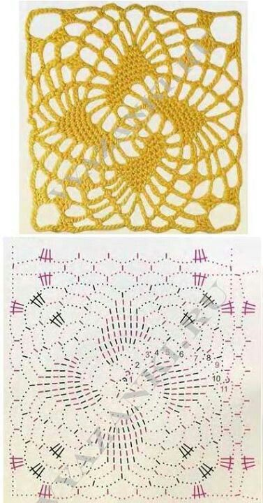 crochet lace square .....