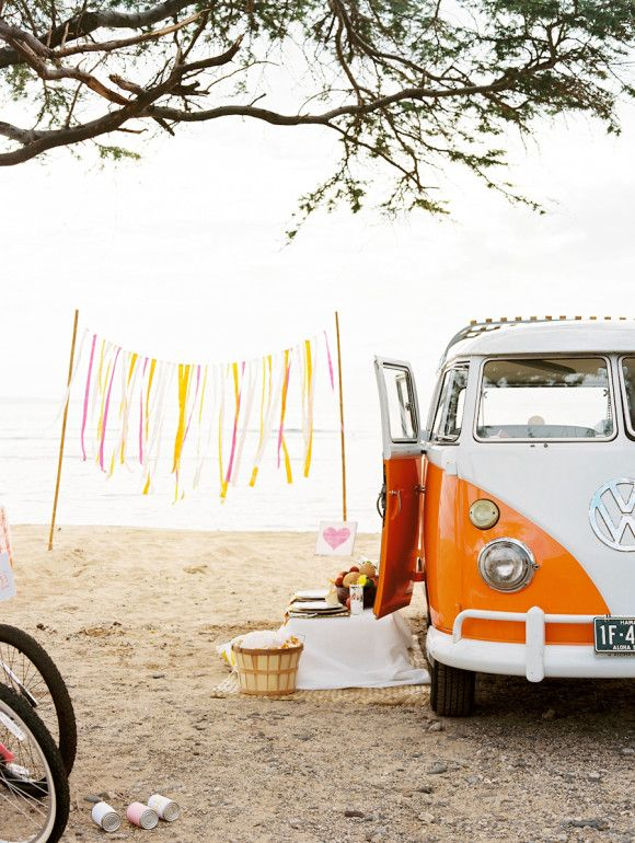 VW Style Shoot Designed by: Couture Events Maui- Erica Goldsmith + Wendy Laurel Photography + Mandy Grace Designs