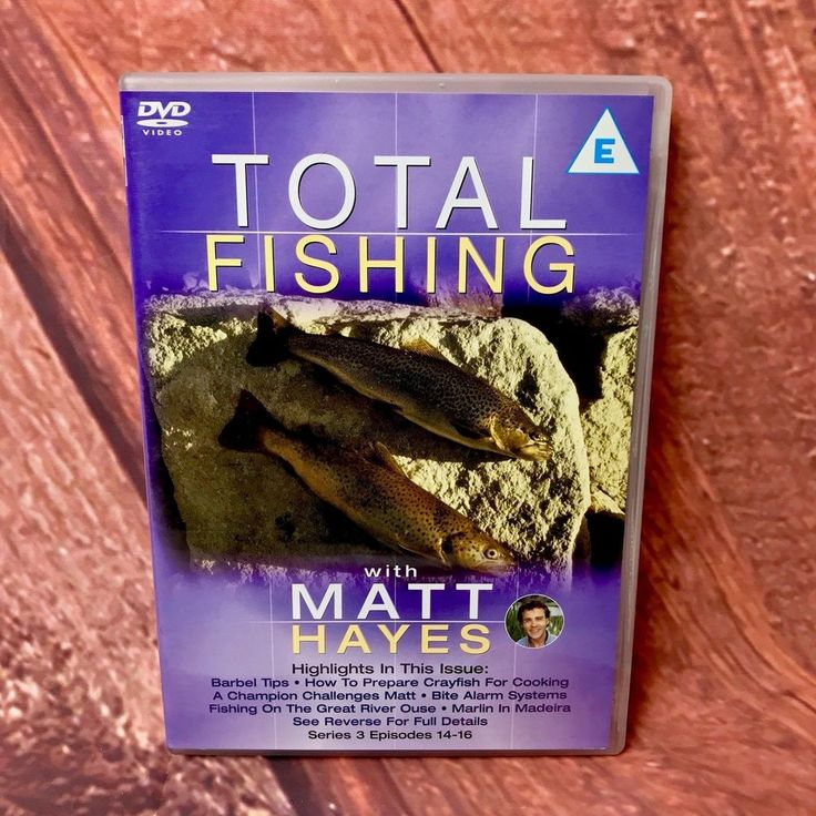 TOTAL FISHING MATT HAYES SERIES 3 EPISODES 14-16 Barbel Catfish Carp Norway