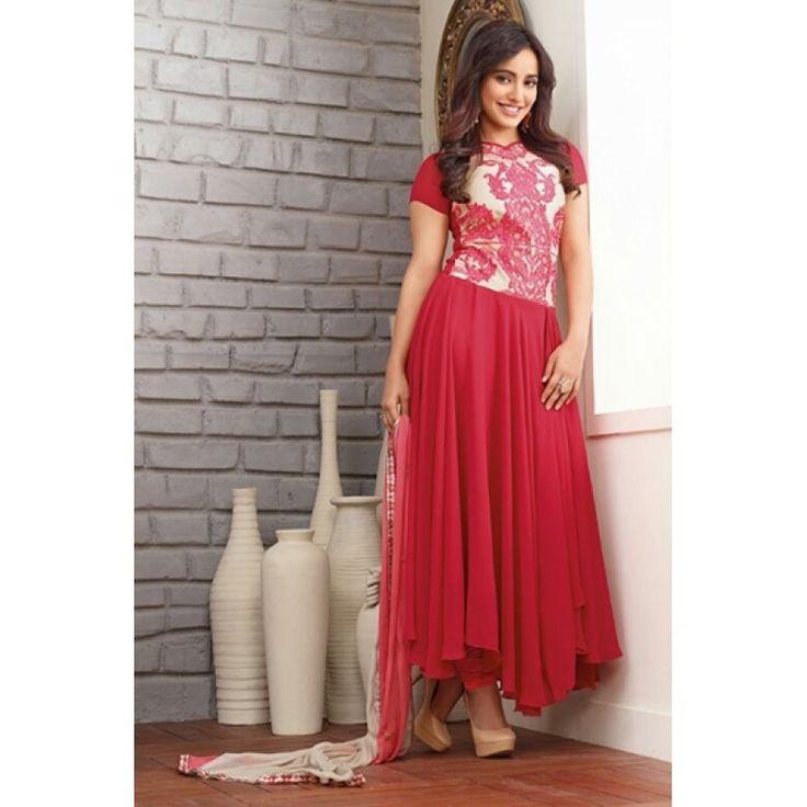 Wedding Wear Georgette Red Anarkali Suit - FFP9-1097