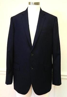 $425 JCrew Mens Italian Wool Crosby 2 Button Jacket 42S Deep Navy Blue Blazer Z