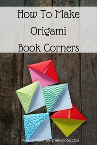 Easy Origami Book Corners #colormesweet #ad