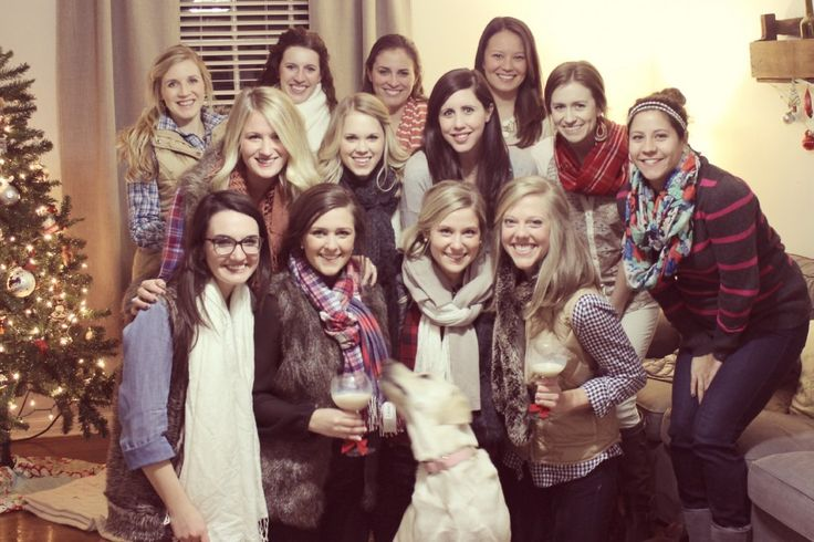 Scarf Party: basically a White Elephant type exchange where everyone brings a cute scarf to exchange! - SewCaroline