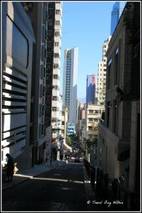 Mid-Levels is dominated by narrow streets