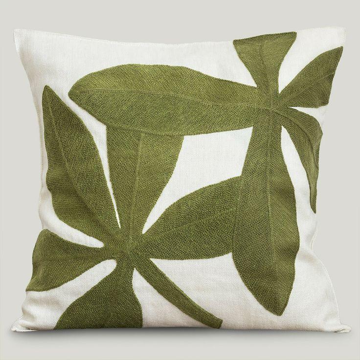 Almofada Linho Firenze Folhas Verdes #ItsyDesign #decoração #interiores