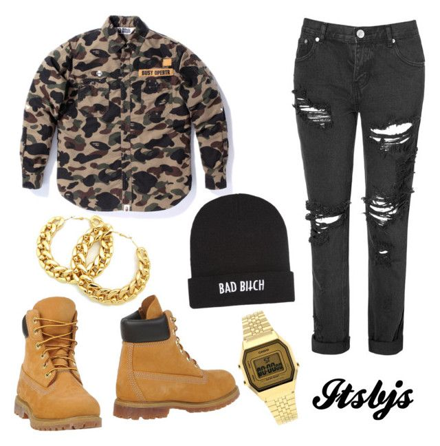 """""""/timberland/military/dope/casio/bape"""" by itsbjs on Polyvore"""