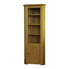 Contemporary Solid Oak QPCBC Corner Bookcase  www.easyfurn.co.uk