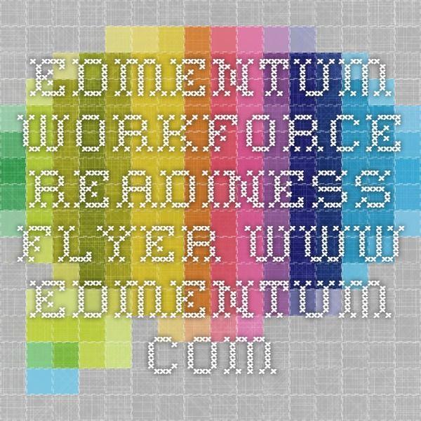 Edmentum Workforce Readiness Flyer www.edmentum.com
