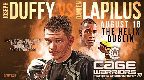 Joseph Duffy vs. Damien Lapilus Set to Headline Cage Warriors 70 in Dublin | TalkingBrawlsMMA.com