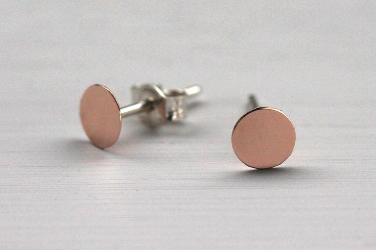 Boucles d'oreilles Plates Or 5R  Lunaticart