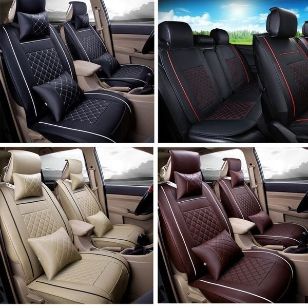 4 Colors Cars Luxury Accessories Pu Leather Support Pad Universal Car Seat Cushion Car Seat Cover Wish In 2020 Leather Car Seat Covers Car Seats Leather Car Seats