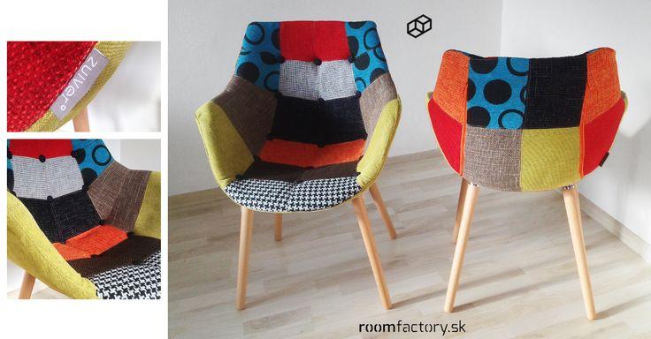 Úžasne svieže stoličky ELEVEN od holandskej značky Zuvier v prevedení Patchwork pre oživenie akéhokoľvek interiéru.