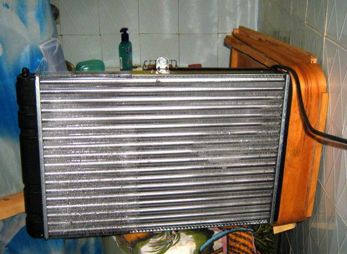 Самодельный кондиционер из автомобильного радиатора