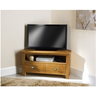 Wiltshire Oak Corner TV Unit.Dimensions: W90 x D55 x H47cm (approx.).Fully Assembled.With a gentle distressed look, softly rounded corners and a luxury hand wax finish.