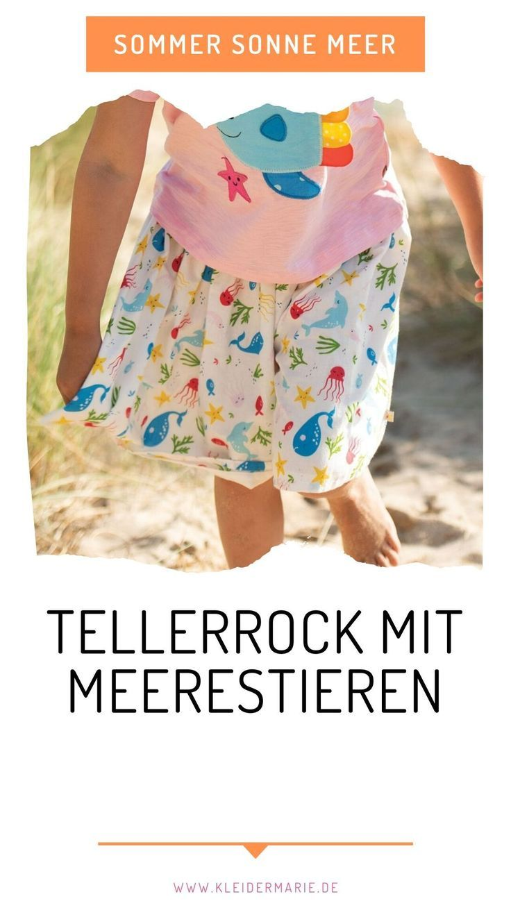 frugi fiona full skirt splashing about meerestiere | bei