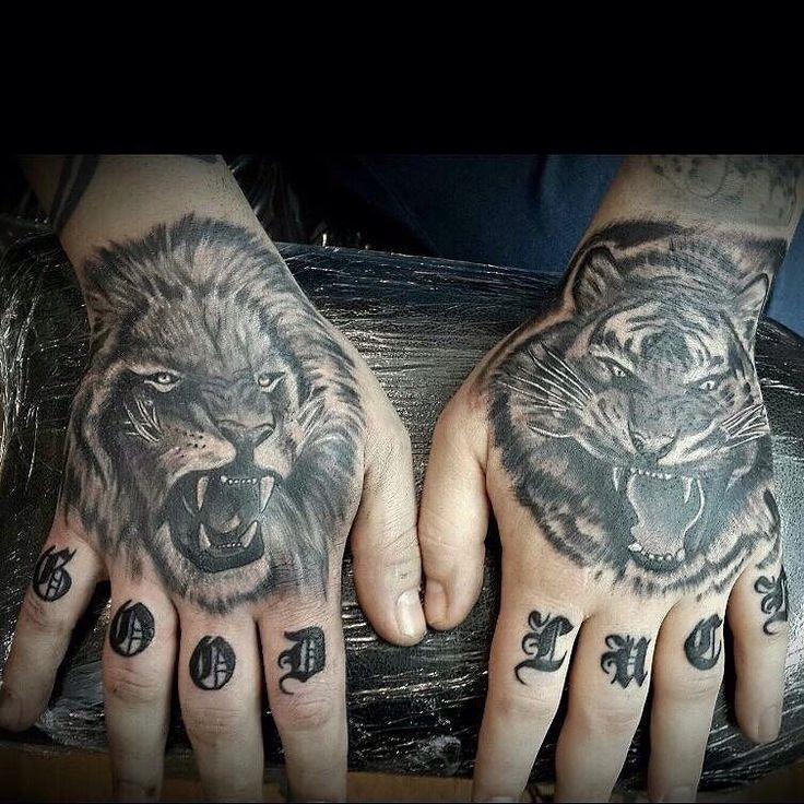 Pin de Mischa en Lion Tatuaje de tigres, Tatuajes de