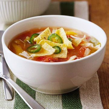 Ladle this Mexican-style soup into your favorite warm bowl for some Southwestern comfort food that's low-cal and low-carb.