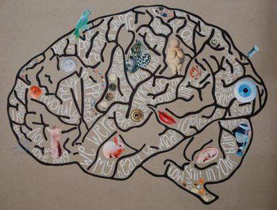 kunst, kanskje?: Hjernecollage på gråpapir 1