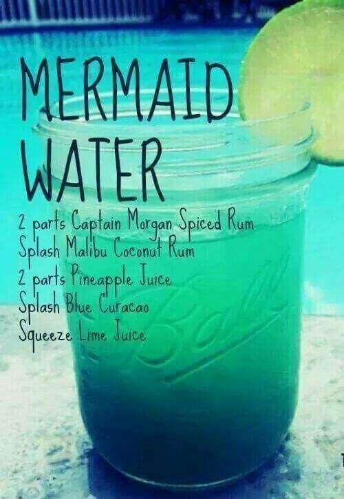 Mermaid water...perfect summer drink.