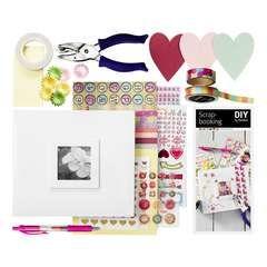 Scrapbooking startsæt - Materialesæt til den kreative i Panduro Hobby