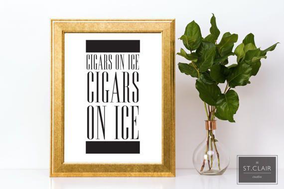 Beyonce Cigars on Ice Home Decor Print Song by JillStClairCreative
