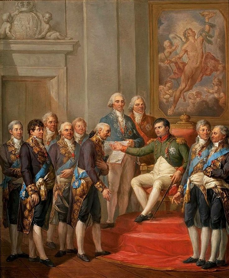 Granting of the Constitution of the Duchy of Warsaw by Napoleon, 22 VII 1807 by Marcello Bacciarelli, 1811 (PD-art/old), Muzeum Narodowe w Warszawie (MNW)