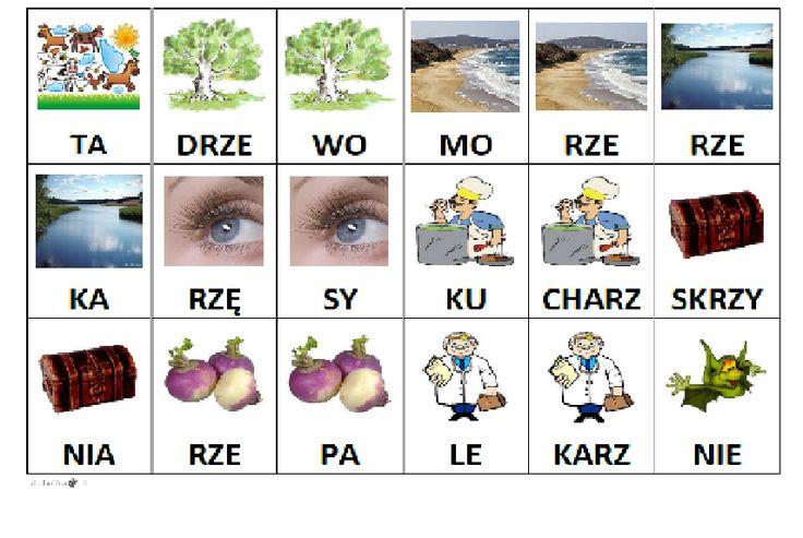 Sylabowe domino to pomoc dydaktyczna doskonaląca czytanie przeznaczona dla dzieci niepełnosprawnych oraz uczniów edukacji wczesnoszkolenej